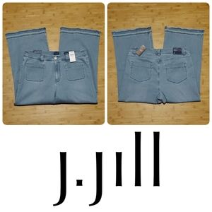NWT J. JILL high rise full leg crop denim jeans